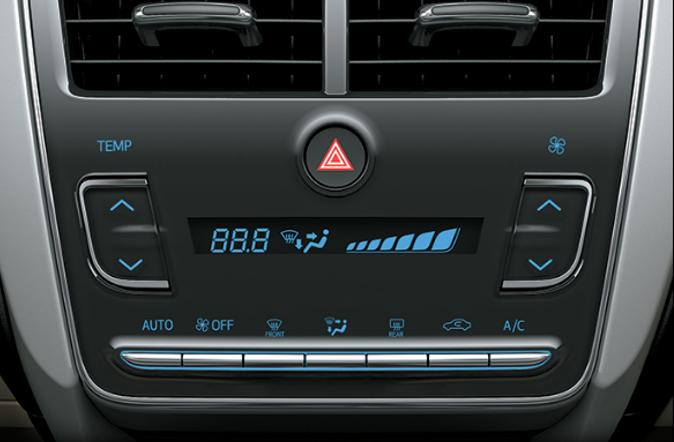 Hệ thống điều hòa Toyota Vios 1.5G CVT 2019