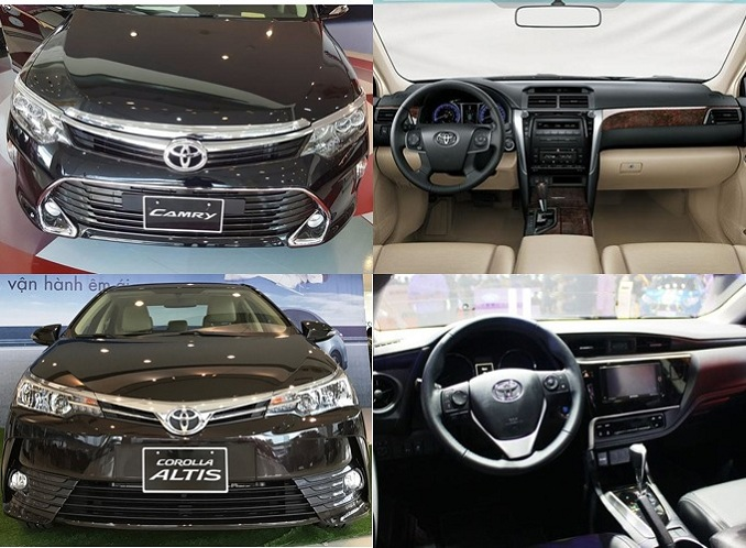 So sánh Toyota Camry 2.0E và Toyota Altis 2.0V